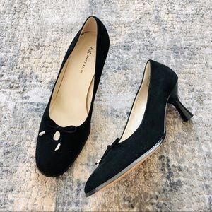 anne klein | euc faux suede dress heels